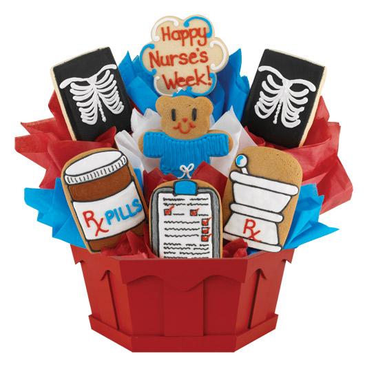 Nurse's Week X-Ray Cookie Bouquet
