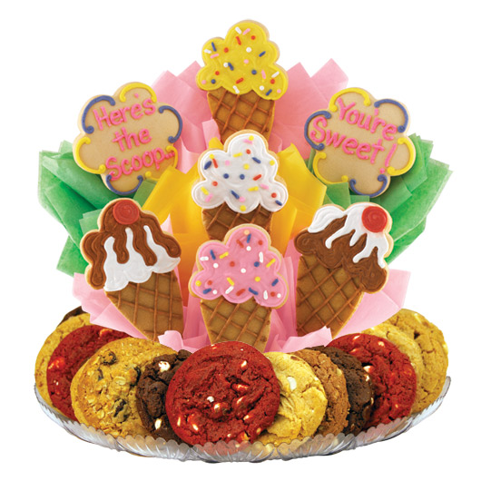 Ice Cream Cones Gourmet Gift Basket