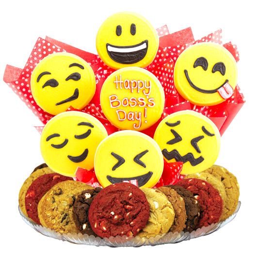 Sweet Emojis Boss Day Gourmet Gift Basket