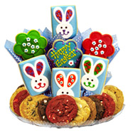 Gluten free cookies l gluten free gift baskets cookies by design gfb308 gluten free easter patchwork bunnies boutray negle Image collections