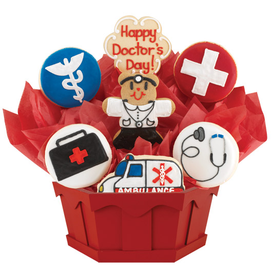 Doctor's Day Cookie Bouquet | Cookies by Design