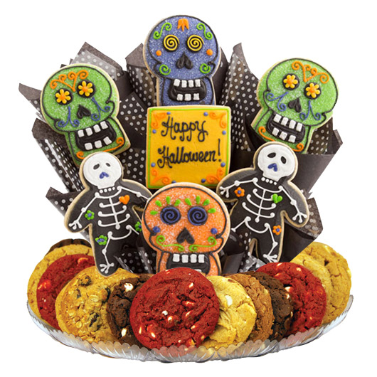 Skulls and Skeletons Gourmet Gift Basket