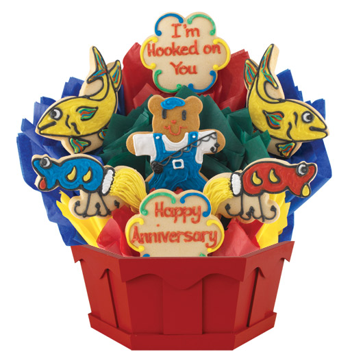 Hooked On You Anniversary Cookie Bouquet