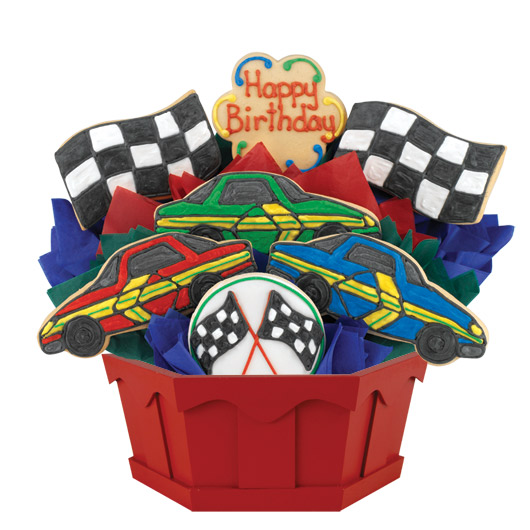 Birthday Race Cars Cookie Bouquet