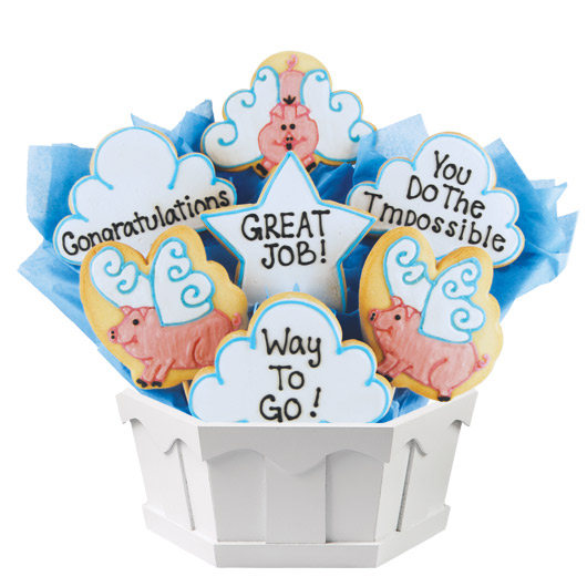 When Pigs Fly Cookie Bouquet