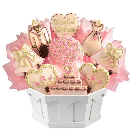 Blissful Wishes Cookie Bouquet
