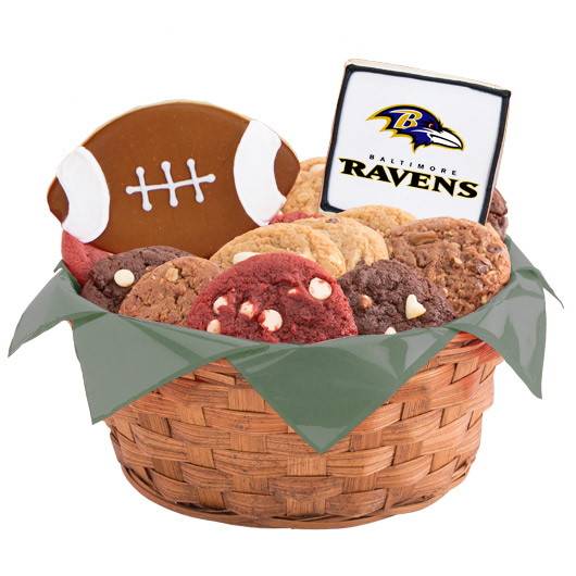 Football Cookie Basket - Baltimore