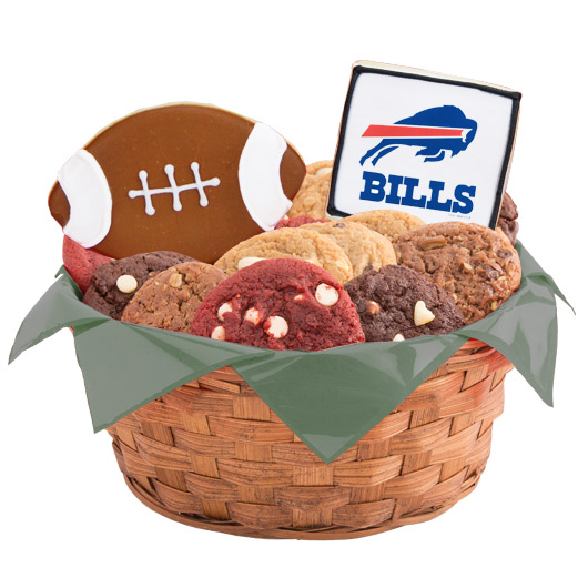 Football Cookie Basket - Buffalo