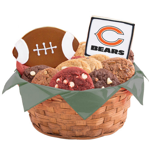 Football Cookie Basket - Chicago