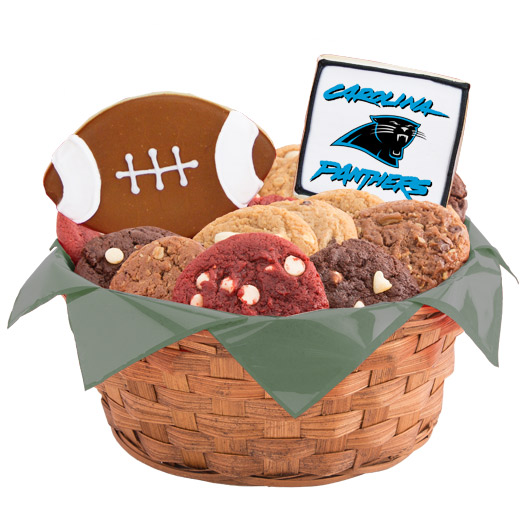 Football Cookie Basket - Carolina