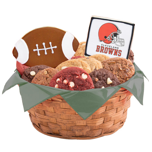 Football Cookie Basket - Cleveland