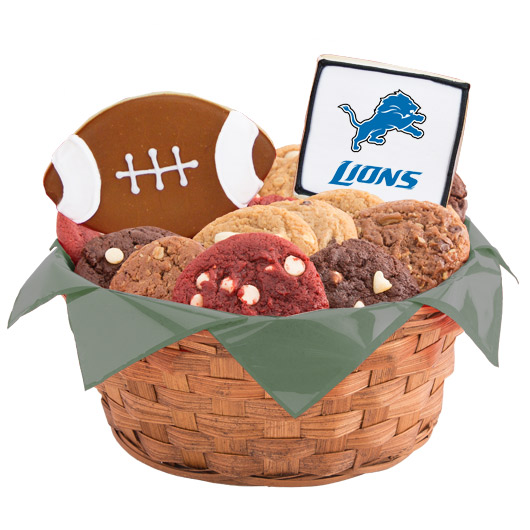 Football Cookie Basket - Detroit