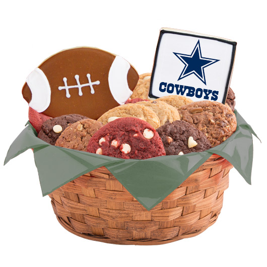 Football Cookie Basket - Dallas