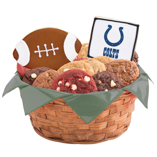 Football Cookie Basket - Indianapolis