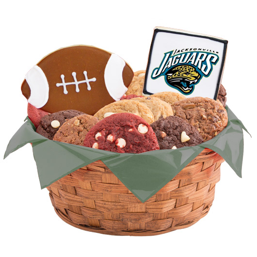 Football Cookie Basket - Jacksonville