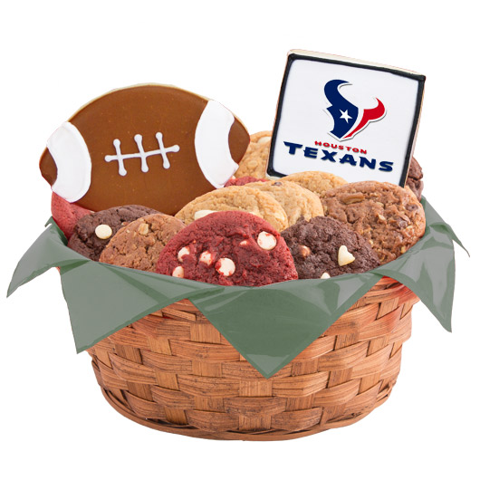 Football Cookie Basket - Houston