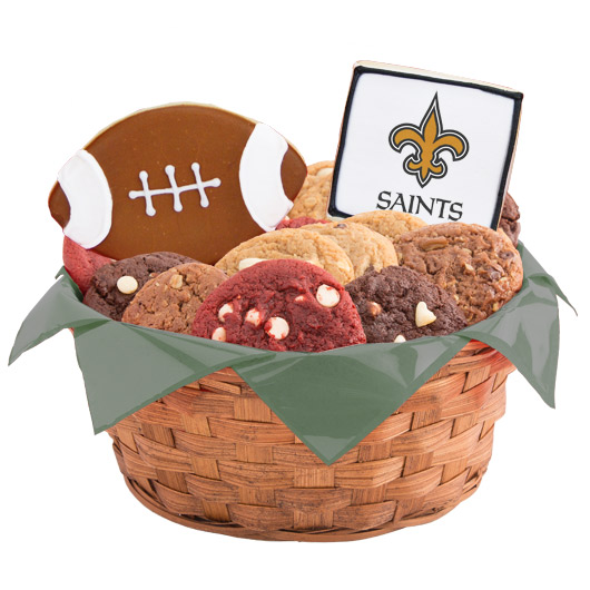 Football Cookie Basket - New Orleans