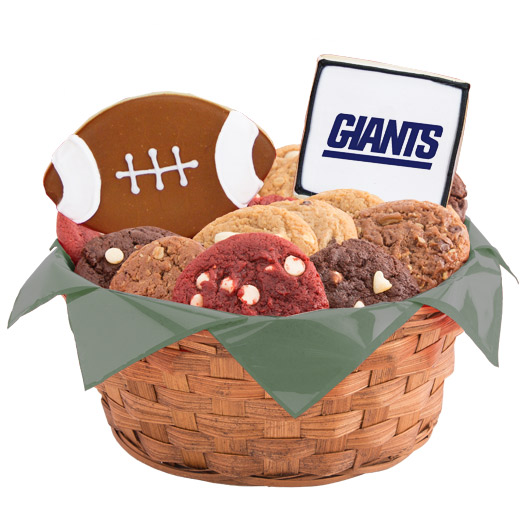 Football Cookie Basket - New York (BLUE)