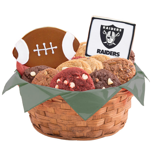 Football Cookie Basket - Oakland