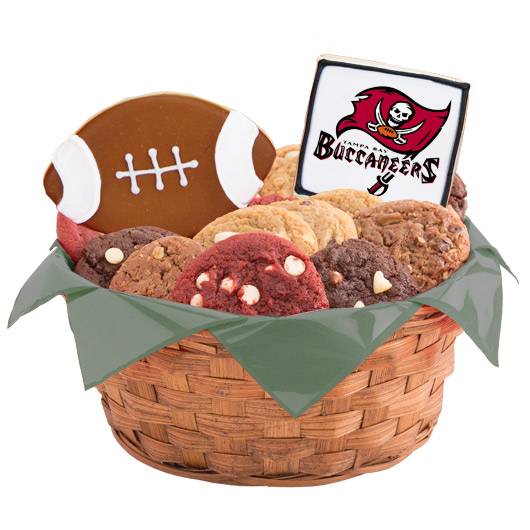 Football Cookie Basket - Tampa Bay