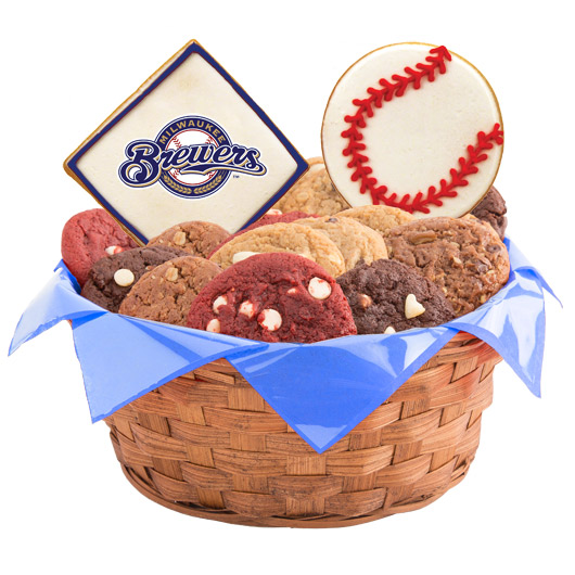 MLB Cookie Basket - Milwaukee Brewers