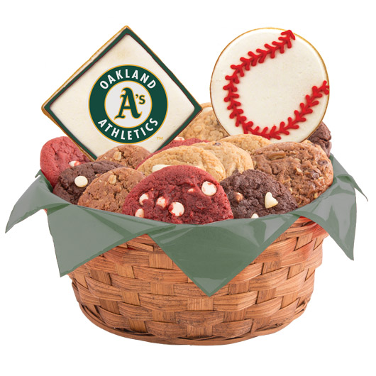MLB Cookie Basket - Oakland Athletics