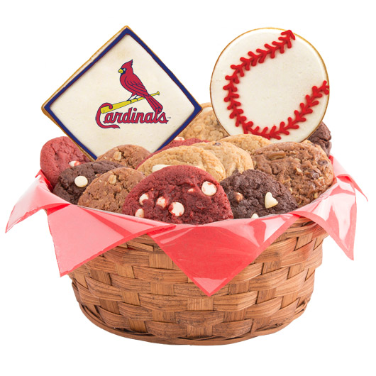 MLB Cookie Basket - St. Louis Cardinals