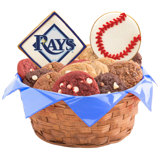 MLB Cookie Basket - Tampa Bay Rays