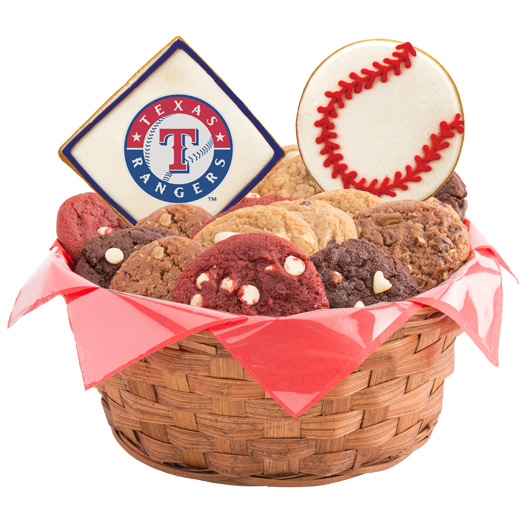 MLB Cookie Basket - Texas Rangers
