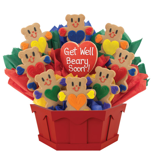 Get Well Beary Soon Cookie Bouquet