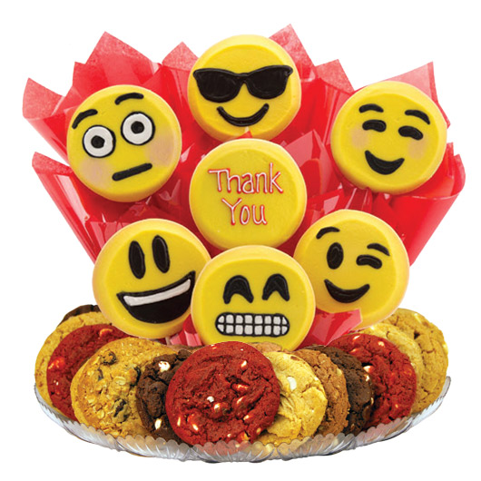 Sweet Emojis Gourmet Gift Basket-Thank You
