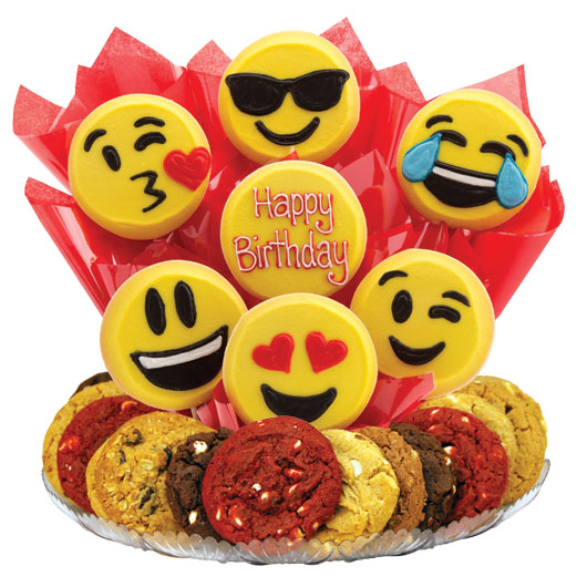 Sweet Emojis Gourmet Gift Basket - Birthday