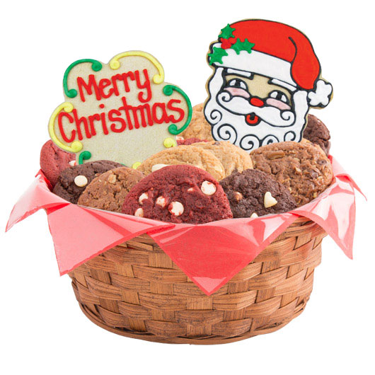 Merry Christmas Gift Basket Christmas Cookie Basket Cookies By