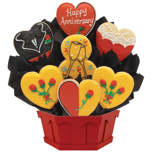 Happy Anniversary Wishes Cookie Bouquet