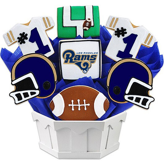 Football Bouquet - LAR Cookie Bouquet