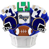 NFL1-LAM - Football Bouquet - LAR