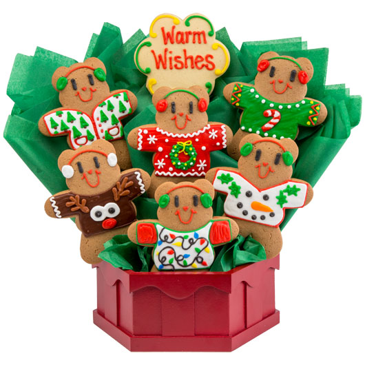 Beary Ugly Sweaters Cookie Bouquet