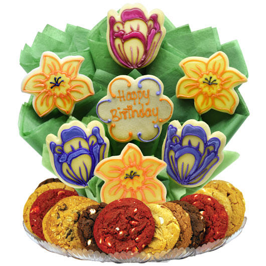 Birthday Spring Blossoms Gourmet Gift Basket