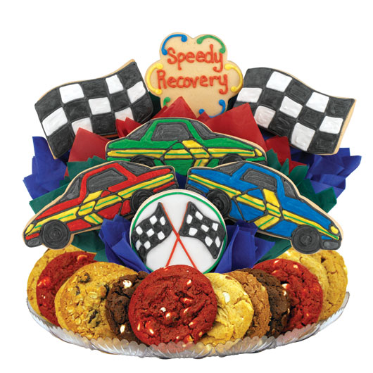 Speedy Recovery Cars Gourmet Gift Basket