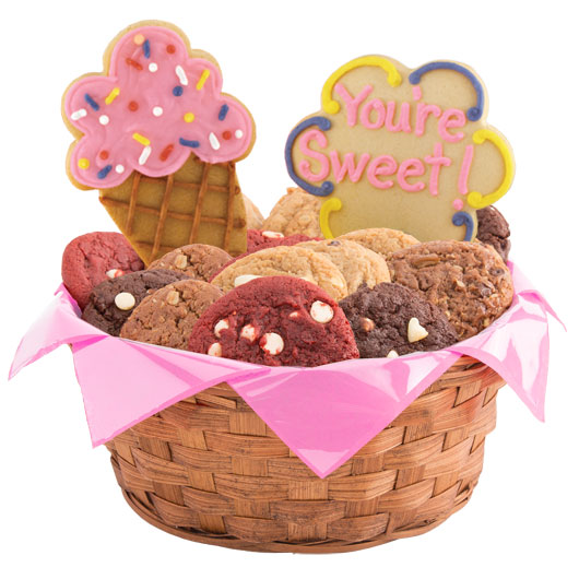 Ice Cream Cones Cookie Basket