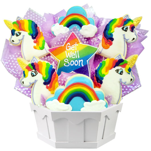 Get Well Magical Unicorns Cookie Bouquet