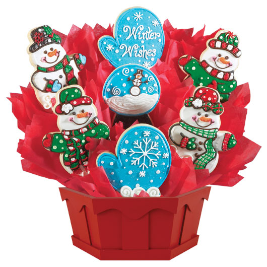 Cookie bouquet gourmet gift baskets cookies by design winter wishes negle Gallery