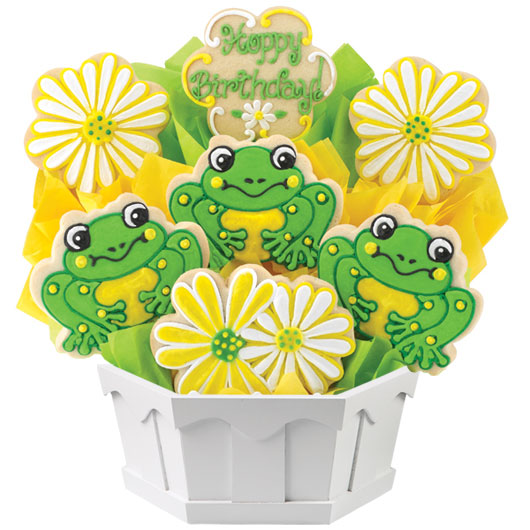 Frog Birthday Cookie Bouquet Cookies by Design