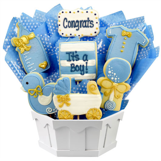 0101c916d8b8f It s a Boy Cookie Bouquet