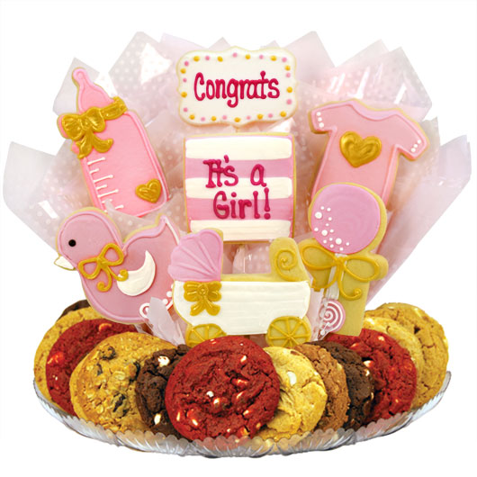 It's A Girl Gourmet Gift Basket