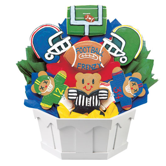 Football Frenzy Cookie Bouquet
