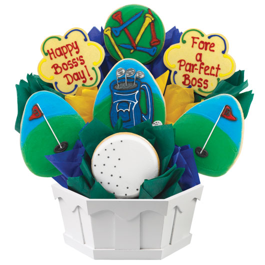 Boss's Week Golf Cookie Bouquet