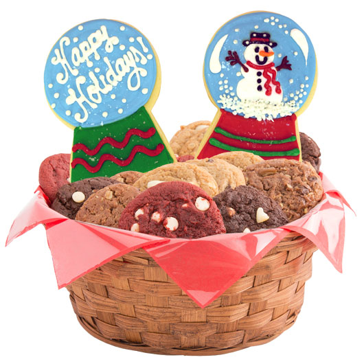 Christmas Snow Globes Cookie Basket