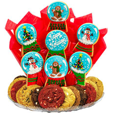 b487 christmas snow globes boutray - Christmas Cookie Baskets