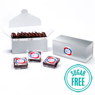 LBBRSF9 - Custom Logo Box – 9 Sugar Free Gourmet Brownies